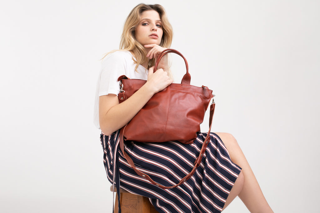 New Tote bag - brown leather