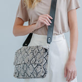 double clutch bag Snake leather - last one in stock