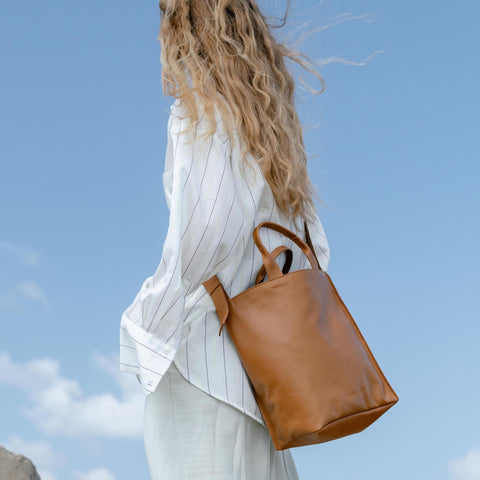 Tote bag - brown leather