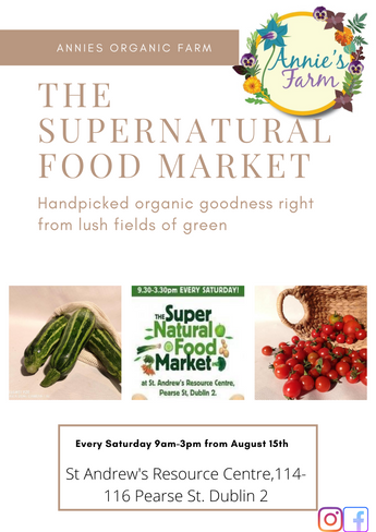 Supernatural Food market re opens August 15th.