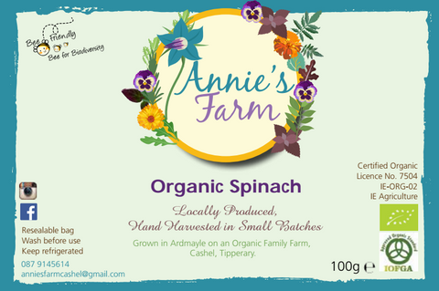 Annies Organic Spinach Tipperary