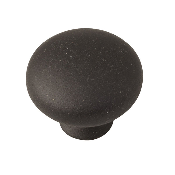 Button Knob Handle Matt Black