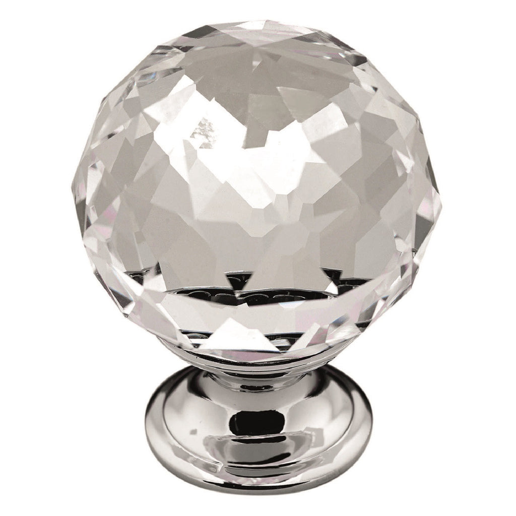 Crystal Knob Handle Chrome
