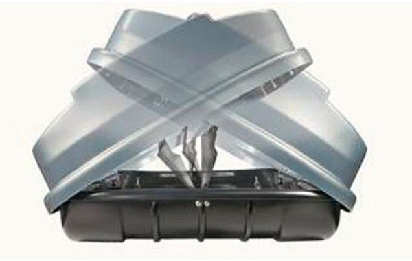 Summit Roof Box 450 Litre Dual Opening Gloss Grey Roof Box