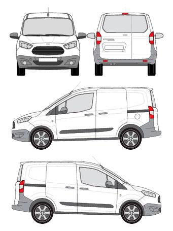 Cruz 907 Series N20-120 Roof Rack for Ford Courier II Tourneo/Transit 2014