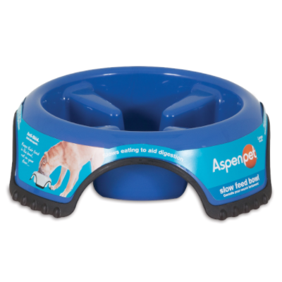 Aspent Dog Skid Stop Slow Feed Bowl