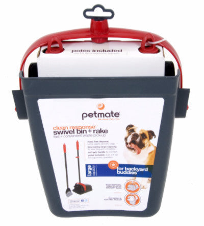 PetMate Clean Response Swivel Bin & Brake