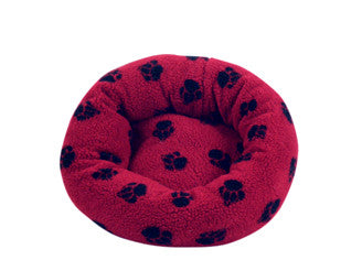 Danish Design Fleece Paw Cushion Bed