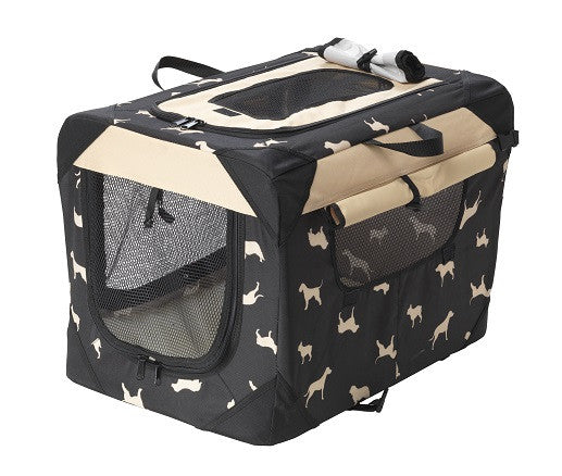 House Of Paws Waterproof Dog Print Crate