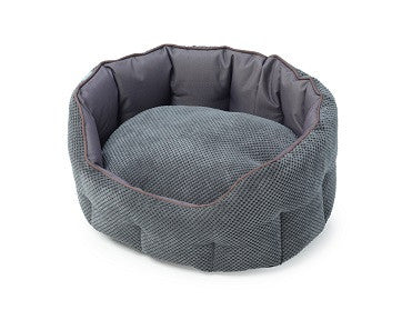 House Of Paws Cord & Water Resistant Oval Snuggle Bed