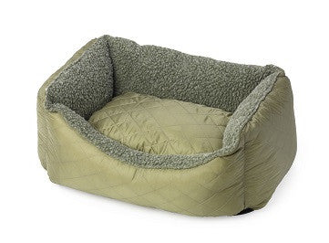 House Of Paws Country Quilted & Fleece Rectangle Bed