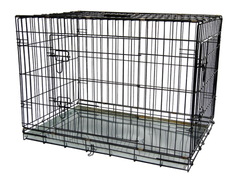 Gor Pets Metal Dog Crate 2 Doors Fold Flat Metal