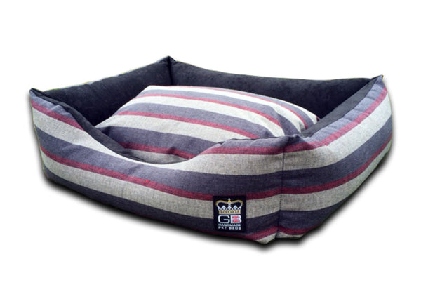 GB Pets Classic Settee Dog Bed Stripe Fabric