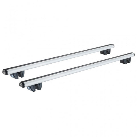 Cruz aliuminium roof bars for Volkswagen Caddy (IV - railing) 2011