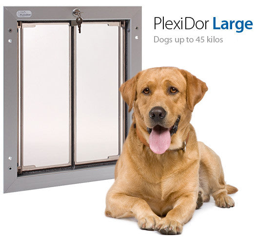 Plexidor UK Dog Doors Large - Door Mount