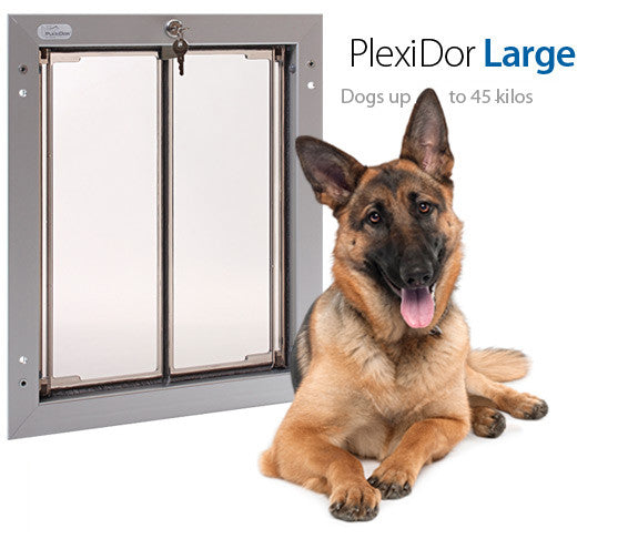 Plexidor UK Dog Doors  Large - Wall Mount