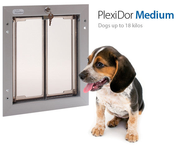Plexidor UK Dog Doors  Medium - Wall Mount