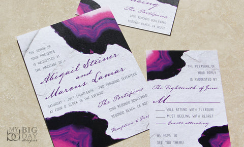 Agate Gemstone themed Invitation Set