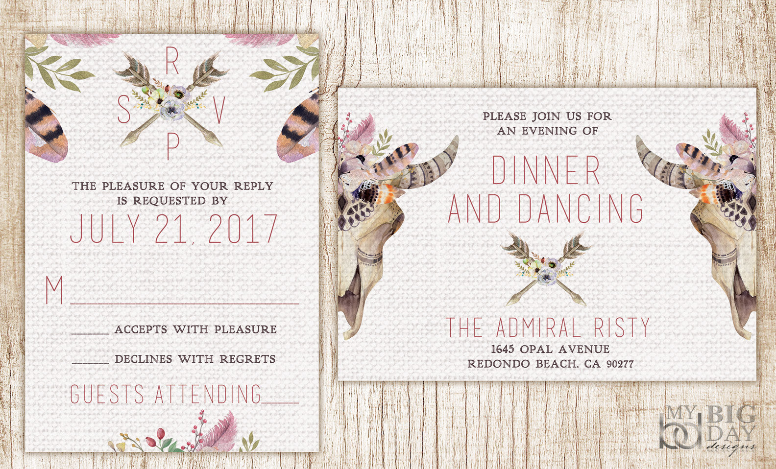 The Tribal BOHO Invitation Set