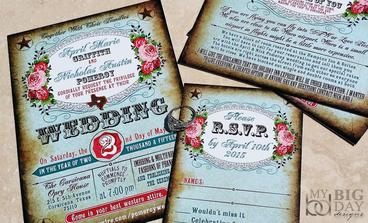 The Boots 'n Bling Invitation Set