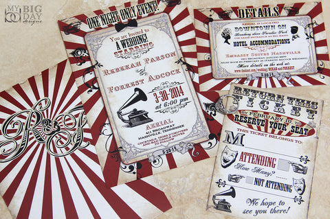 The Classic Carnival Invitation Set