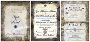 A Destination to Treasure Invitation Set