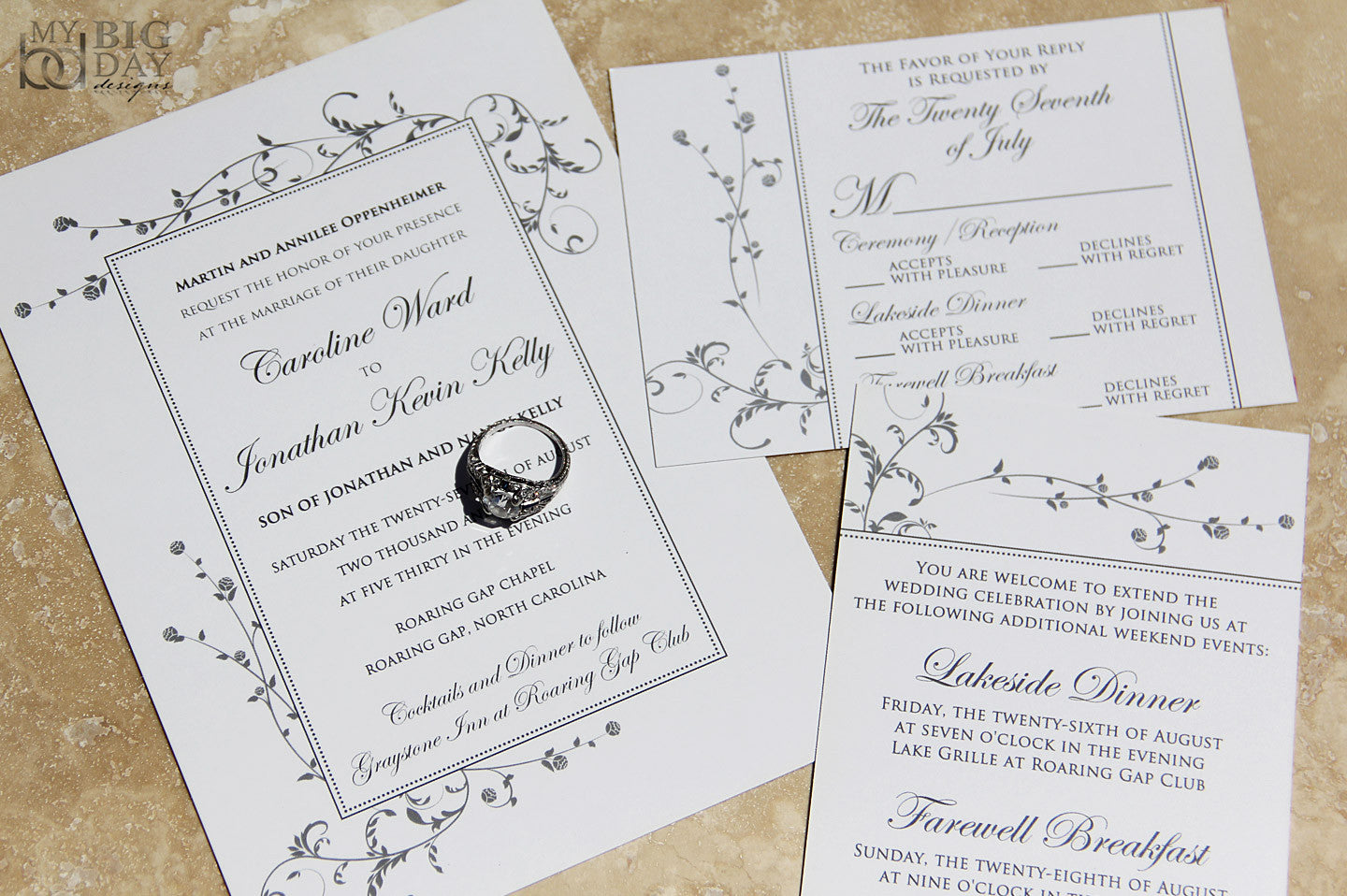 The Elegant Simplicity Invitation Set