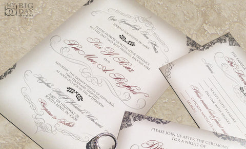 The Filigree Flourish Invitation Set