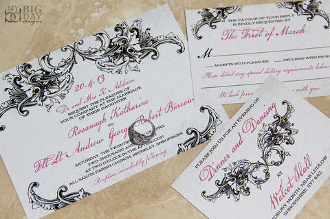 Gothic Elegance Invitation Set
