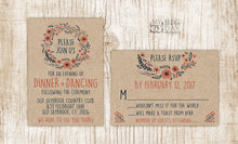 The Wreath Kraft Invitation Set