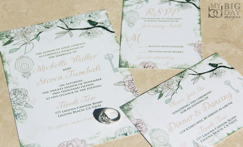 Le Birdcage Invitation Set