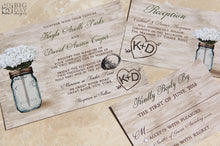 The Mason Jar Matrimony Invitation Set