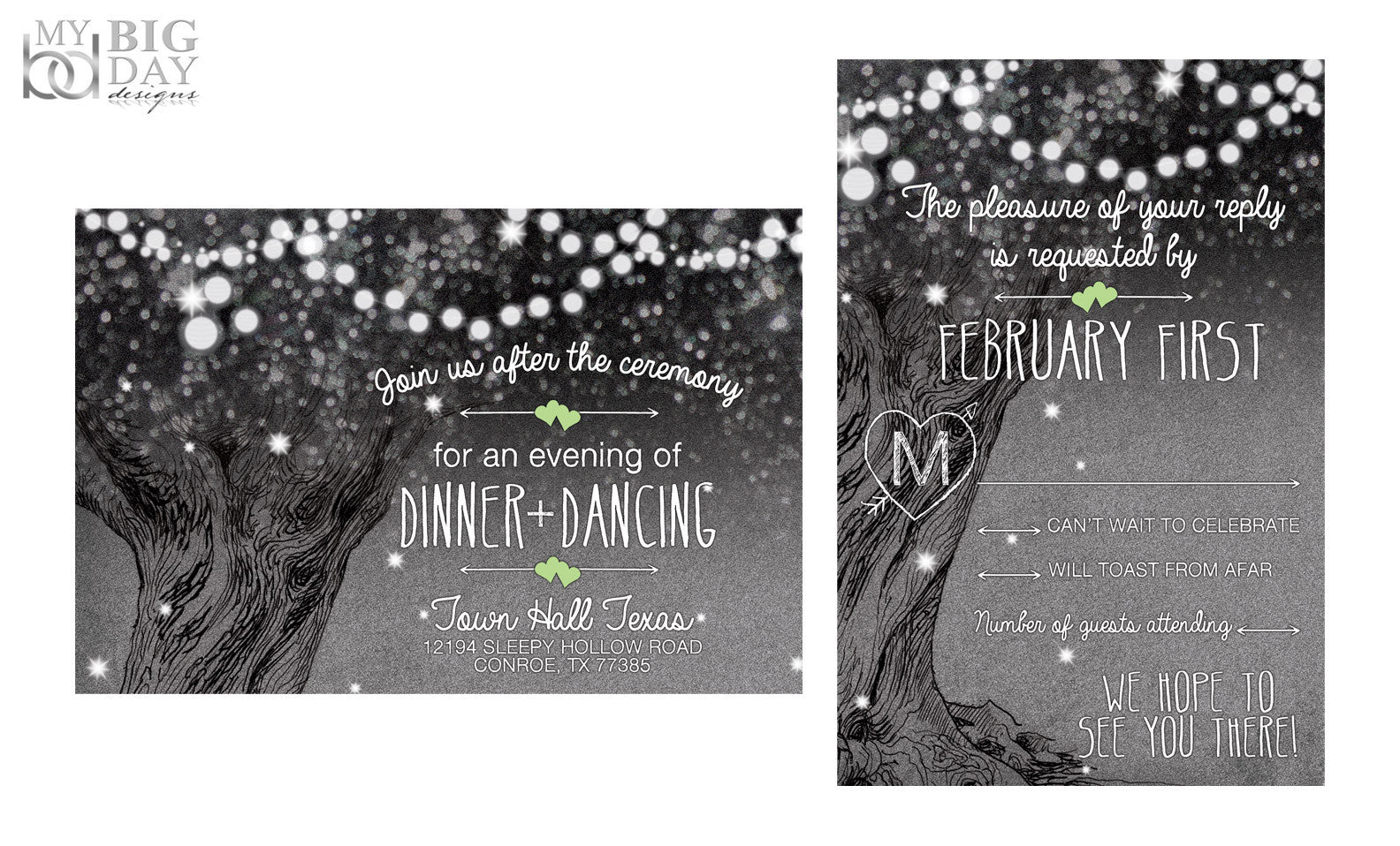 The Midnight Sparkle Invitation Set