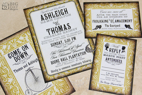The Nostalgic Nuptials Invitation Set