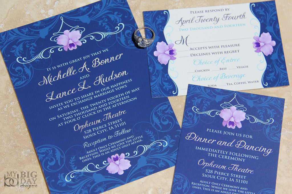 The Elaborate Orchids Invitation Set