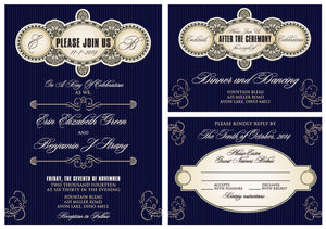 The Hollywood Glam Invitation Set