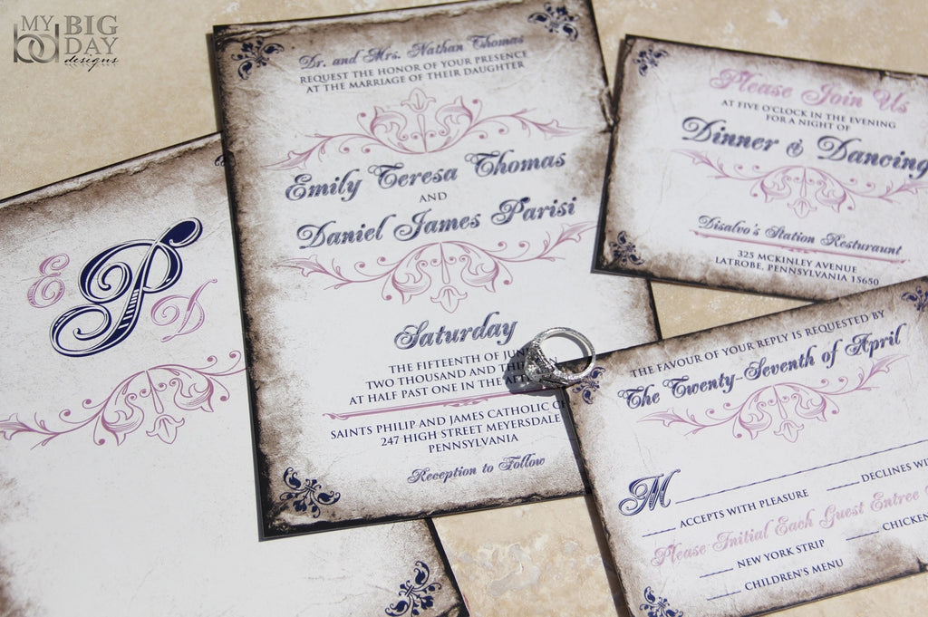 The Polished Parchment Invitation Set