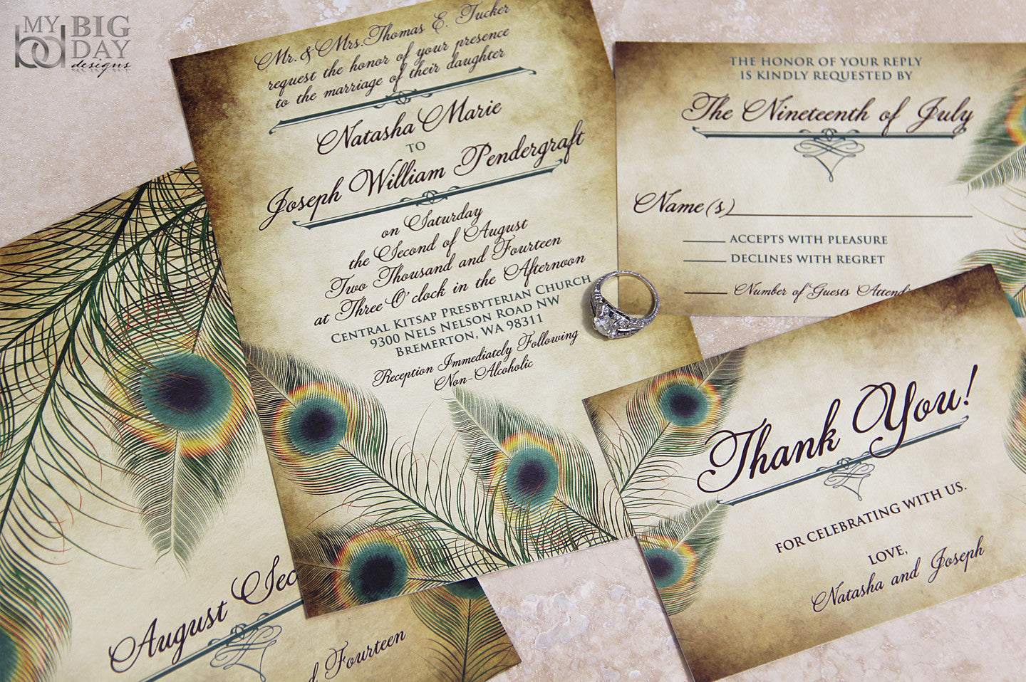 The Fancy Feathers Invitation Set