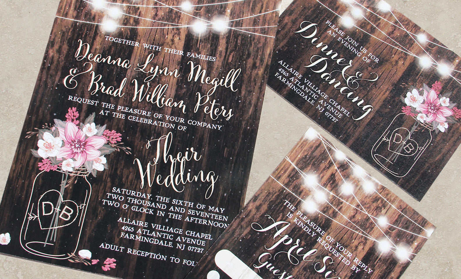 The Mason Jar Fairytale Invitation Set