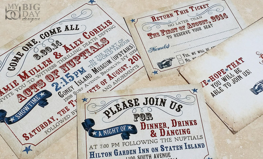 Stylish Saloon Invitation Set