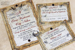 Rustic Lovebirds Invitation Set