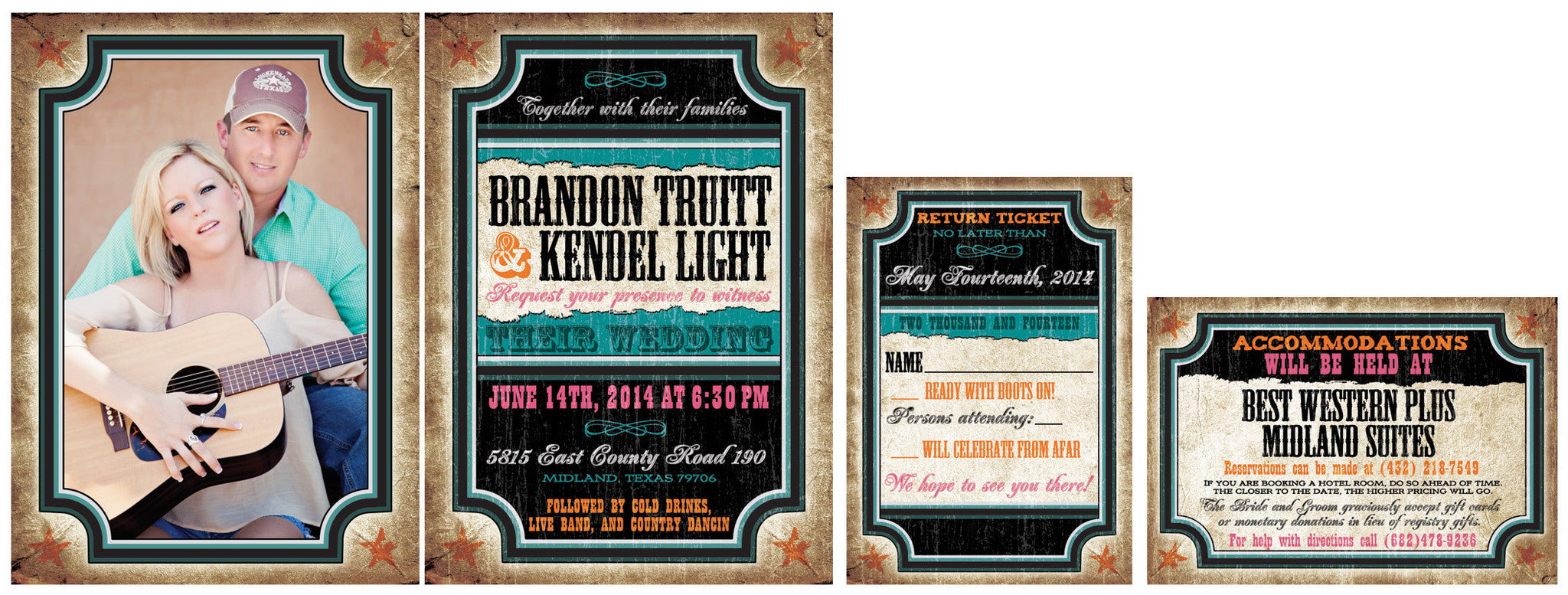 The Wild West Wedding Invitation Set