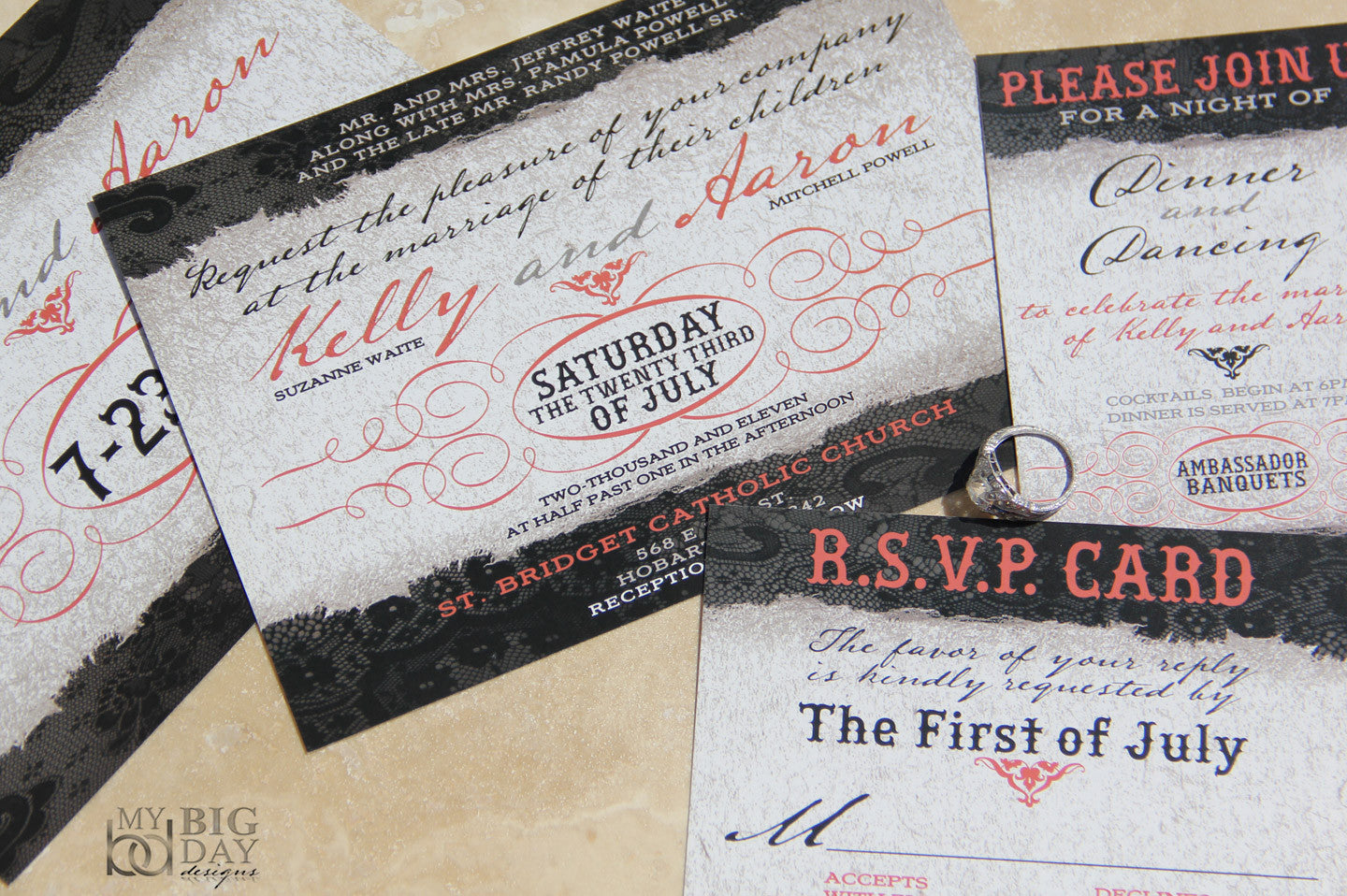 Timeless Textures Invitation Set