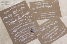 Trendy Typography Invitation Set