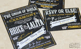 The Vaudeville Chalkboard Invitation Set