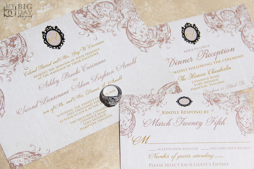 Victorian Broch Invitation Set