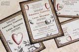 Vintage Lovebirds Invitation Set