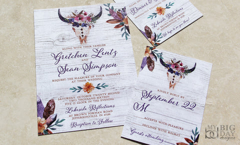 Rustic BOHO Invitation Set