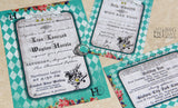 Don't Be Late Alice In Wonderland Invitation Set
