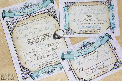 Baroque Banners Invitation Set